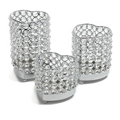 DecoStar™ Real Crystal Heart Candle Holder 3 Piece Set!