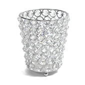 DecoStar™ Real Crystal Cylinder Candle Holder - MED