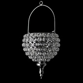 DecoStar™ Real Crystal Hanging Candle Holder - Drop Bottom - LG