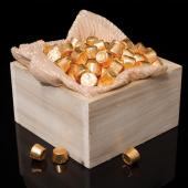 Square Wooden Centerpiece Box - 7""