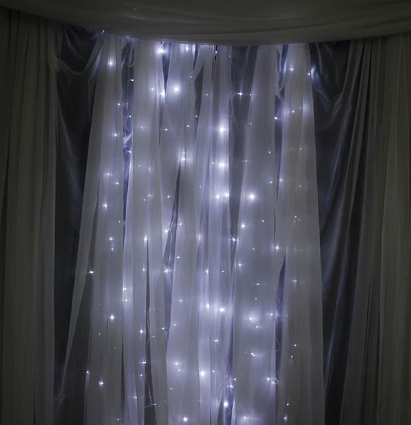 12ft Tall Curtain LED Light Strands 288 Lights (!) [ZA-LED-1307-E-12FT ...
