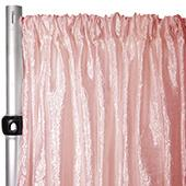 "Extra Wide Crushed Taffeta ""Tergalet"" Drape Panel by Eastern Mills 9ft Wide w/ 4"" Sewn Rod Pocket - Blush"