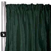 "*FR* Extra Wide Crushed Taffeta ""Tergalet"" Drape Panel by Eastern Mills 9ft Wide w/ 4"" Sewn Rod Pocket - Emerald"