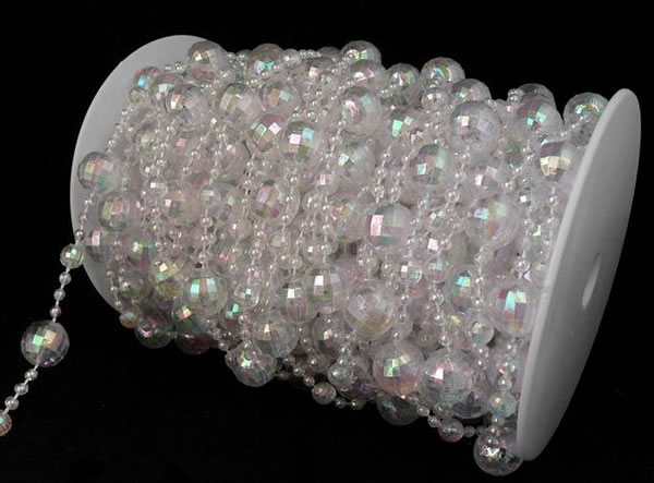 Iridescent Crystal Beads Disco Ball 60ft Roll