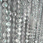 12ft Iridescent Crystal Curtain Panel