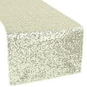 Standard Sequin Table Runner by Eastern Mills - Ivory