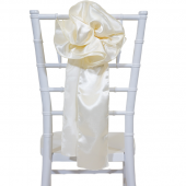 "DecoStar™ 9"" Satin Flower Chair Accent - Ivory"