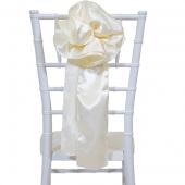 """DecoStar™ 9"""" Satin Flower Chair Accent - Ivory"""