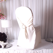 Premium Scuba (Polyester Flex) Banquet & Wedding Chair Cover By Eastern Mills in Ivory Color