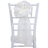"DecoStar™ 9"" Sheer Flower Chair Accent - Ivory"