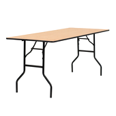 6FT 30X72 Long Plywood Table