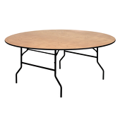 "72"" Round Plywood Table"