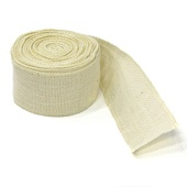 "100% Natural Rustic Jute Burlap Ribbon Roll (2.5"" x 10 yards) - Ivory"