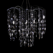 DecoStar™ Large Waterfall Chandelier in Silver