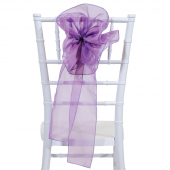 "DecoStar™ 9"" Sheer Flower Chair Accent - Lavender"