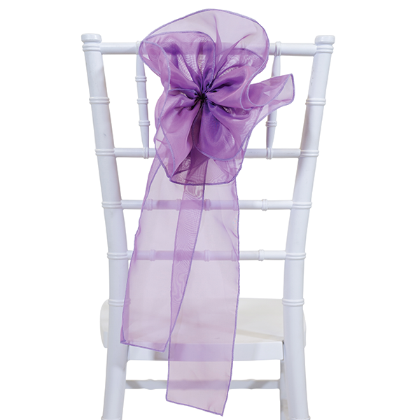 9 Sheer Flower Chair Accent Lavender