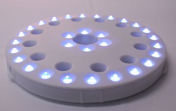 Coaster light w 30 leds for lighting centerpieces vases etc - Lighted coaster ...