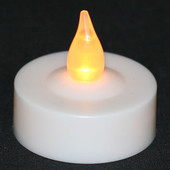 LED Tea Light w/ Flicker, On/Off Switch and Replaceable Battery (12 Pack)