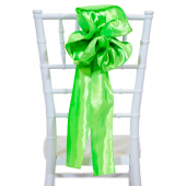 "DecoStar™ 9"" Satin Flower Chair Accent - Lime"