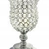 Real Crystal Cylinder Candle Holder Pedestal - 9""