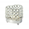 Real Crystal Heart Candle Holder - SM