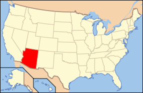 Arizona Wedding Map
