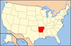 Arkansas Wedding Map