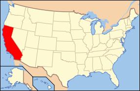 California Wedding Map