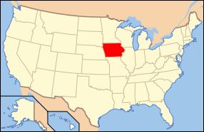 Iowa Wedding Map