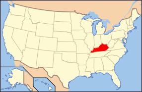 Kentucky Wedding Map