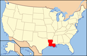 Louisiana Wedding Map