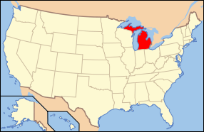 Michigan Wedding Map