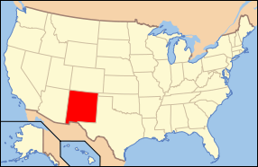 New Mexico Wedding Map