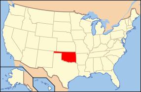 Oklahoma Wedding Map