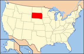 South Dakota Wedding Map