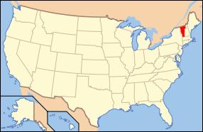 Vermont Wedding Map