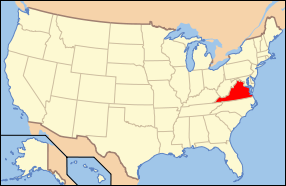 Virginia Wedding Map