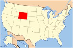 Wyoming Wedding Map