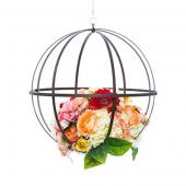DecoStar™ Wrought Iron Folding Sphere w/ Antiqued Finish - 18
