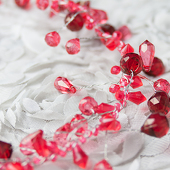 DecoStar™ 15 Inch Miniature Red Crystal Garland