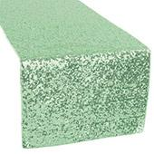 Standard Sequin Table Runner by Eastern Mills - Mint Green