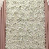 8ft x 12ft Portable Mixed White Floral Backdrop Kit