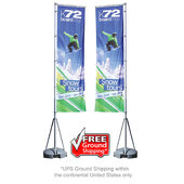 Mondo Flagpole 13 ft. Double-Sided Graphic Package