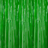 Moss Green - Plastic Wet Look Fringe Curtain - Many Size Options