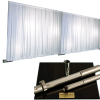 3-Panel Pipe and Drape Kit / Backdrop - 7-12 Feet Tall (Adjustable)