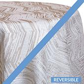 Natural - Cascade Tablecloths - DOUBLE-SIDED - MANY SIZE OPTIONS