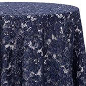 Navy - Chantal Lace Overlay - MANY SIZE OPTIONS