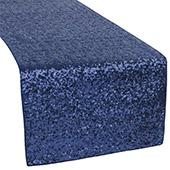 Standard Sequin Table Runner by Eastern Mills - Navy Blue