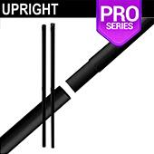 "Black Anodized Pro Series - 8ft Break Apart 2"" Portable Upright"