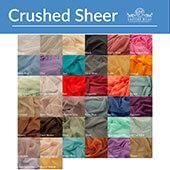 *FR* Crushed Sheer Voile Fabric by Eastern Mills by the Yard - 10ft Wide - Choice of Colors